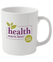 Earthenware promotional mugs