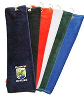 Personalised Turnberry Tri-Fold Golf Towel