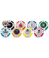 Personalised Vegas Poker Chip Golf Markers