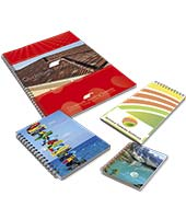 Davos budget card-covered branded wiro notebooks