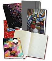 Selection of low cost casebound promotional notebooks